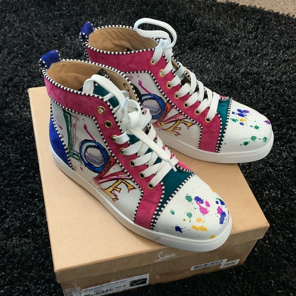 buy online 35859 7ff4d CHRISTIAN LOUBOUTIN Love High Top Sneaker NWT